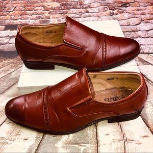 Tayno Dress Shoes Cap Toe Slip On Oxfords